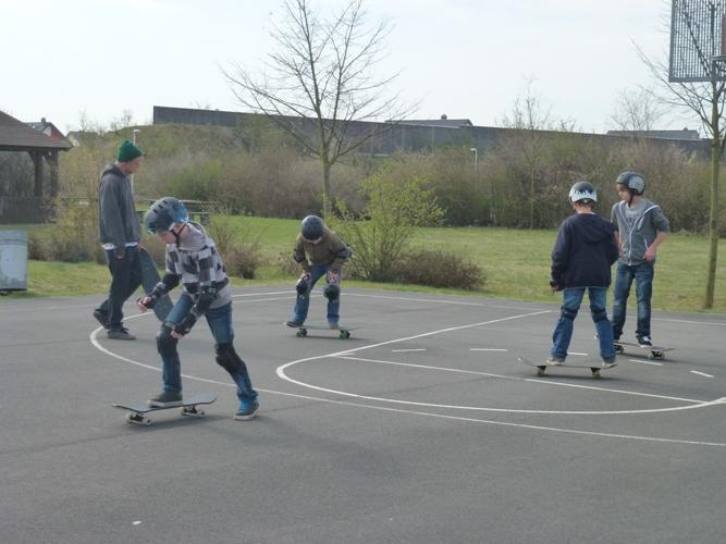 Skateboard-Kurs in der ersten Osterferienwoche war ein voller Erfolg