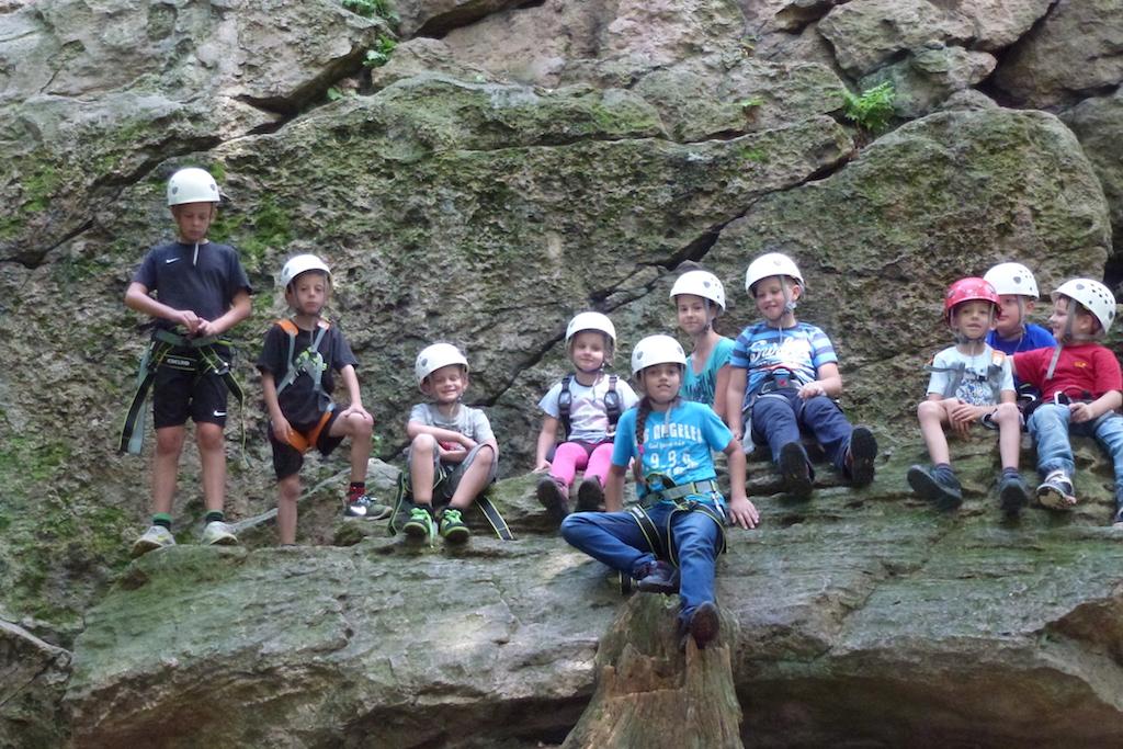 Ausflug zum Schnupperklettern in den Odenwald