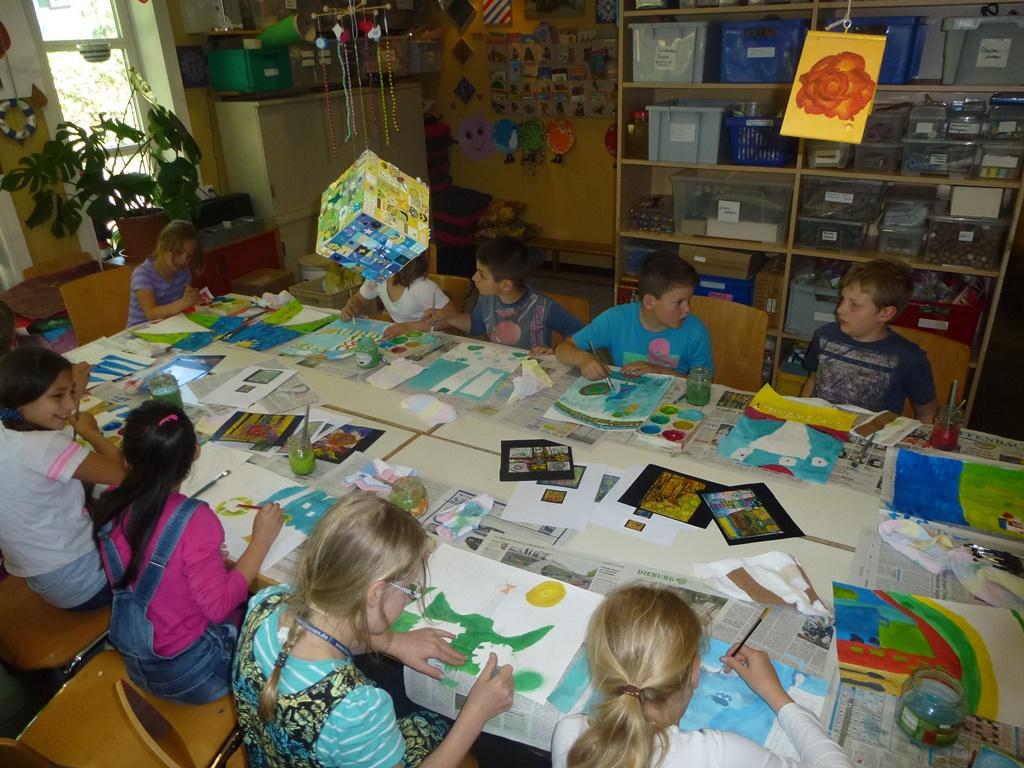 Hundertwasser-Malkurs für junge Künstler