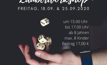 """""""Das Schwupps"""": Zauberei für Anfänger Am Freitag, 18.09. und am Freitag, 25.09.2020 bietet die Kinder- und Jugendförderung der Stadt Babenhausen gemeinsam mit dem Zauberkünstler Herbert Reeg """"Das Schwupps"""", einen Zauberworkshop für Anfänger, an. Teilnehmen können an diesen Workshops interessierte Kinder ab acht Jahren, die schon immer mal """"hinter die Fassaden"""" der Zauberei blicken und selbst […]"""