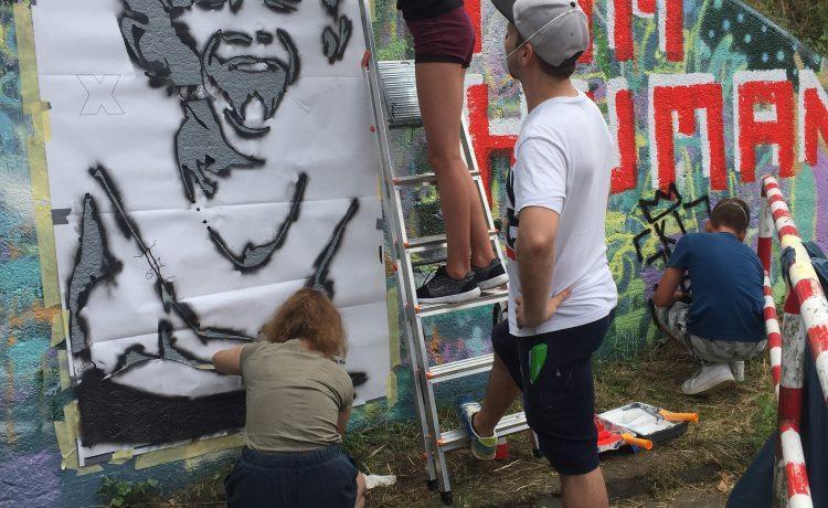 """Street-Art-Workshop an der """"kleinen Unterführung"""""""