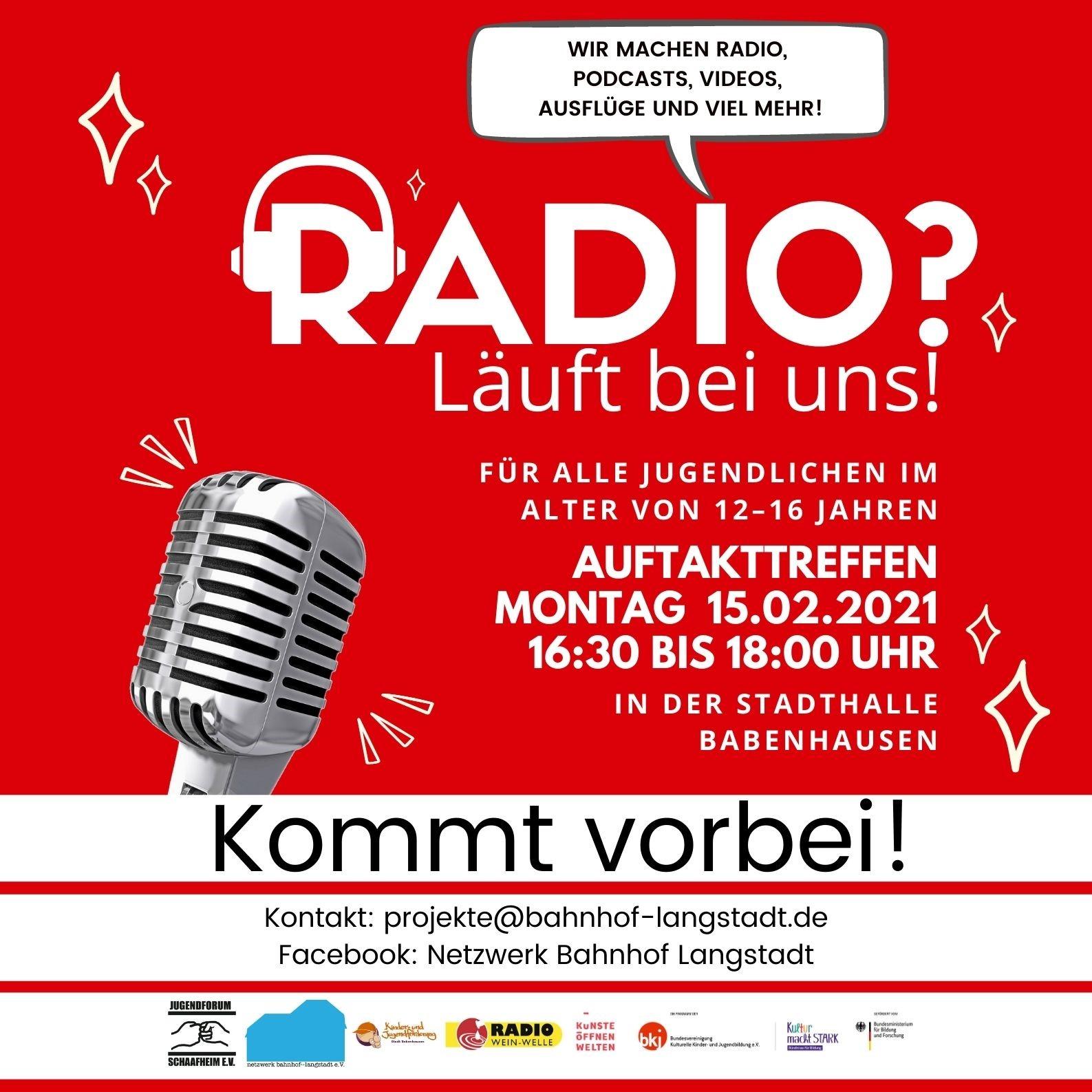 Radio? Läuft bei uns! Das Radio-Projekt für junge Leute aus Schaafheim, Babenhausen und Groß-Umstadt Radio ist ein Medium, das auch in Zeiten von Sozialen Netzwerken seinen Charme beibehalten hat. Radio ist informativ, unterhaltsam und macht Spaß. Richtig interessant wird es, wenn man hinter die Kulissen des Radios schaut und eigene Sendungen produziert. In einem Team […]