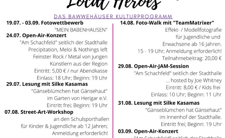 """Bawwehäuser Kulturprogramm """"Local Heroes"""" geht an den Start"""