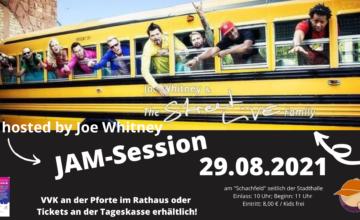 """Die Reihe von drei Open-Air-Konzerten startet am 29.08.2021 ab 11.00 Uhr mit einer JAM-Session im """"Frühschoppen-Look"""", hosted by Joe Whitney, auf dem sogenannten """"Schachfeld"""" seitlich der Stadthalle. Die JAM-Session bietet einige musikalische Überraschungen in schönem Ambiente und stimmgewaltige Talente auf, u.a. aus den Reihen der in Babenhausen bestens bekannten StreetLIVE Family. Die Veranstaltung ist für […]"""