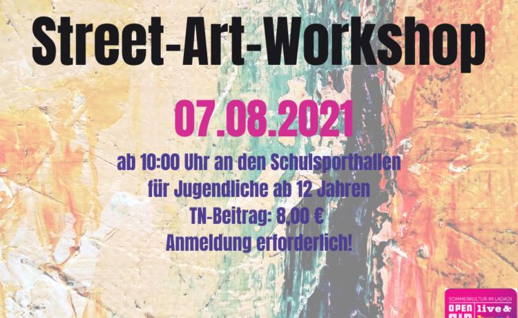 "STREET-ART-Workshop  Im Kulturprogramm ""Local Heroes"