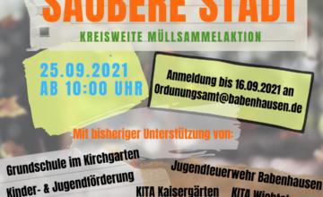 die Stadt Babenhausen war im Jahr 2020 trauriger Spitzenreiter bei der Entstehung und Entsorgung von wildem Müll unter allen 23 Kommunen im Landkreis Darmstadt-Dieburg. Diesem unrühmlichen Titel gilt es natürlich entschlossen entgegen zu steuern. Ein erster Schritt zur Verbesserung ist rege Beteiligung an der kreisweiten Müllsammelaktion am 25.09.2021 zu der wir Sie hiermit herzlichst einladen […]