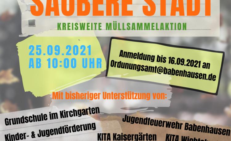 Kreisweite Müllsammelaktion am 25.09.2021